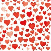 5253 - Colourful hearts red