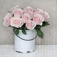 5532 - Bucket with roses