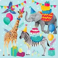 5562 - Animal Birthday Blue