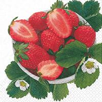 3876 - Strawberries and flowers