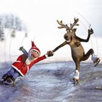3509 - Rudolf and Santa Claus skating